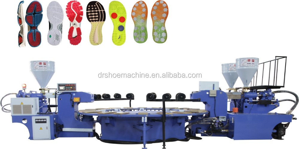 PVC three color Air blowing slipper injection moudling machine
