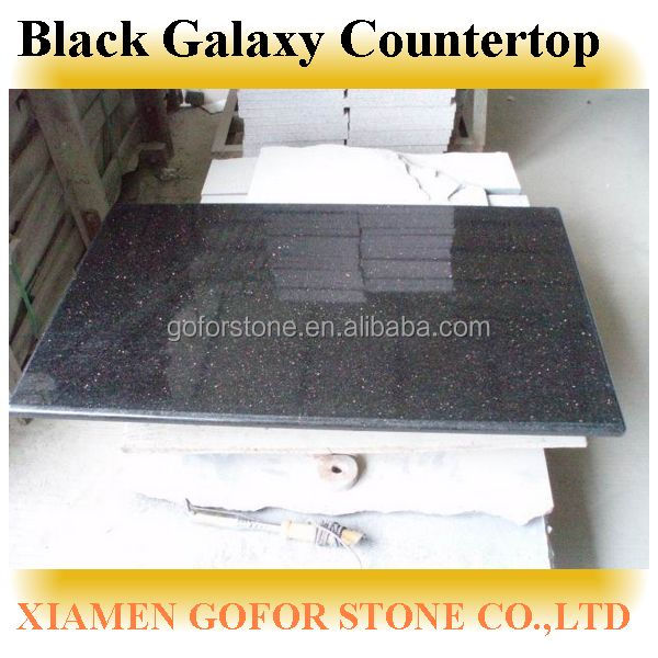black galaxy kitchen countertop edges