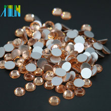 China Factory Wholesale All Size Flat Back Non Hot Fix Crystal Rhinestone for Nail Art, MS133 Lt.Peach Color