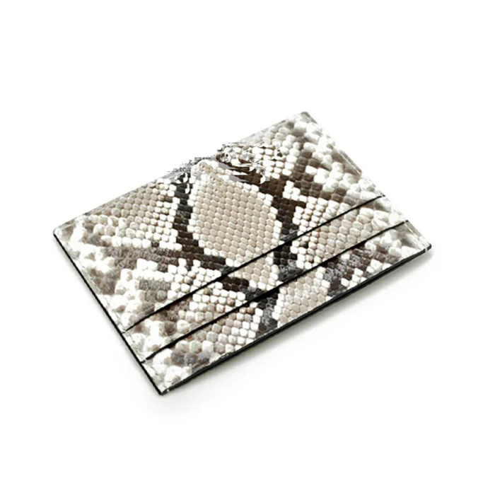 Genuine Exotic Skin Python Leather Business Card Holder Wallet