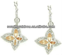 butterfly chain earrings