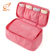 Fashion Underwear Lingerie Travel Bra Bag Organizer Pouch Case Custom Portable Cloth Storage Bag For Women