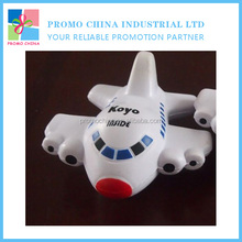 Small Cute Good Quality Soft PU Stress Airplane Model