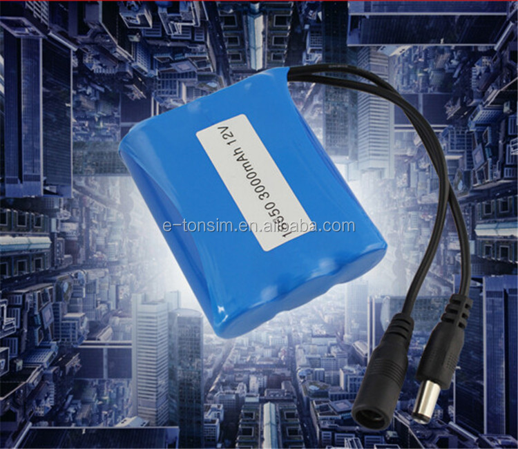Rechargeable 18650 11.1V 3000mAh Lipo battery for bus ticketing machine