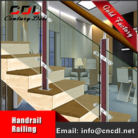 304/316 removable stainless steel Balustrade hand Railing for stairs