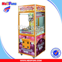 Chocolate Candy Claw Crane Vending Machine for sales,arcade claw machine for sale