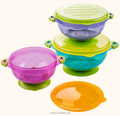 Spill Proof Stay Put Suction Bowls,with Seal-Easy Lids Stack Easy For Storage,BPA & BPS Free