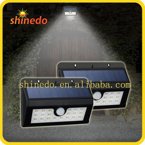 Shinedo SD-SSE32B Wall Mounted Waterproof Solar Light Parts with Motion Sensor Detector