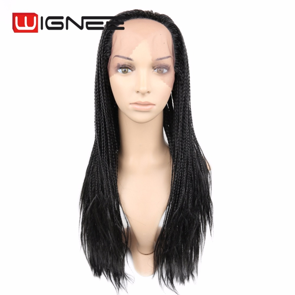 Micro Senegalese Twist Hair Wig Synthetic Hair Lace Front Wigs Havana Twist Braided Hair Wigs For Black Women