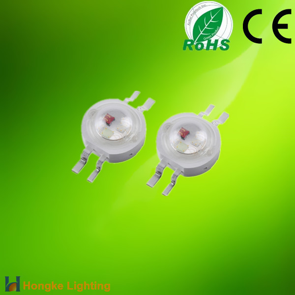 High brightness epistar chip led 3w rgb