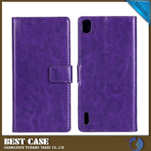 2016 new arrival wallet leather flip case back cover for huawei ascend y300