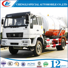 Widely used waste water suction truck , 10cbm 10000 liter vacuum pump Sewage tanker 2 axles Septic water Tank Trucks For Sale