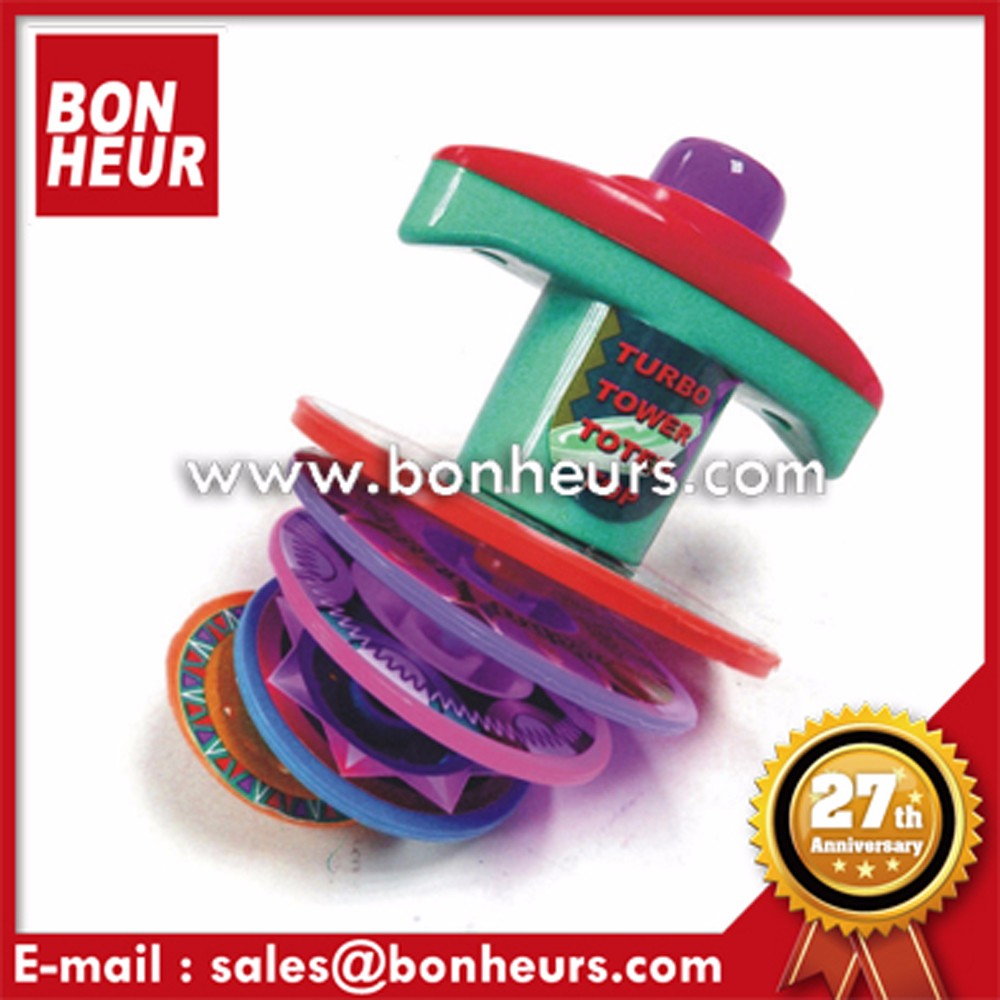 New Novelty Toy Change Fashion Color Top Spinning Tower Tops
