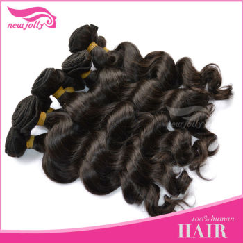 AAA natural Peruvian hair weave in stock human hair 24inch sexy curl wave