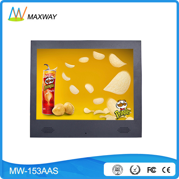 New product promotion 15 inch lcd tv advertising display