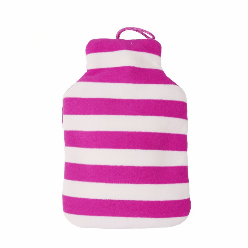 standard size purple and white stripes fleece hot water bags/bottle cover BS1970:2012