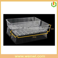 High quality clear plastic box with sliding lid