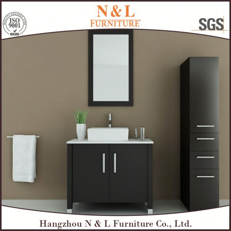 Simple Style Commercial Furniture Unit Vanity Cabinet Bathroom