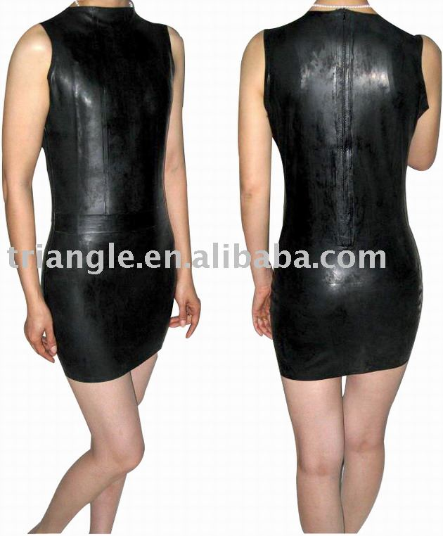 100 % natural handmade Latex sexy dress