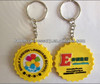 custom design rubber keychain one side or customized double sided key chains