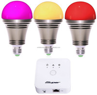 superior Zigbee smart led bulb kit for iPhone Android smartphone, e27 led bulb price,
