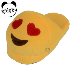 Hot Selling Wholesale Indoor Bedroom Slipper Factory Custom Winter Warm Plush Emoji Woman Slipper