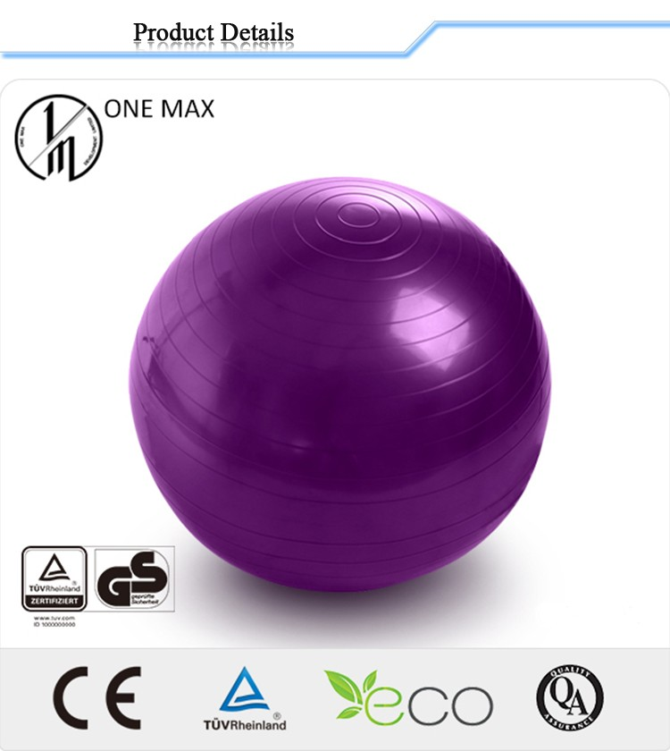 Eco Friendly yoga balls with foot pump in gymnastics