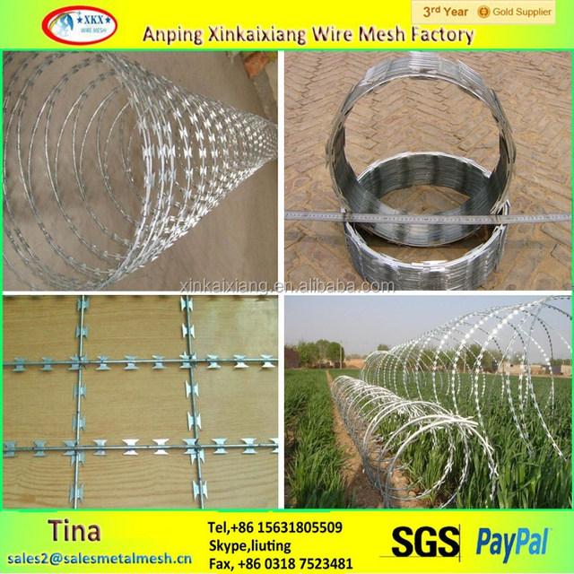 BTO 10 22 16 razor barbed wire, concertina razor coil,concertina razor wire