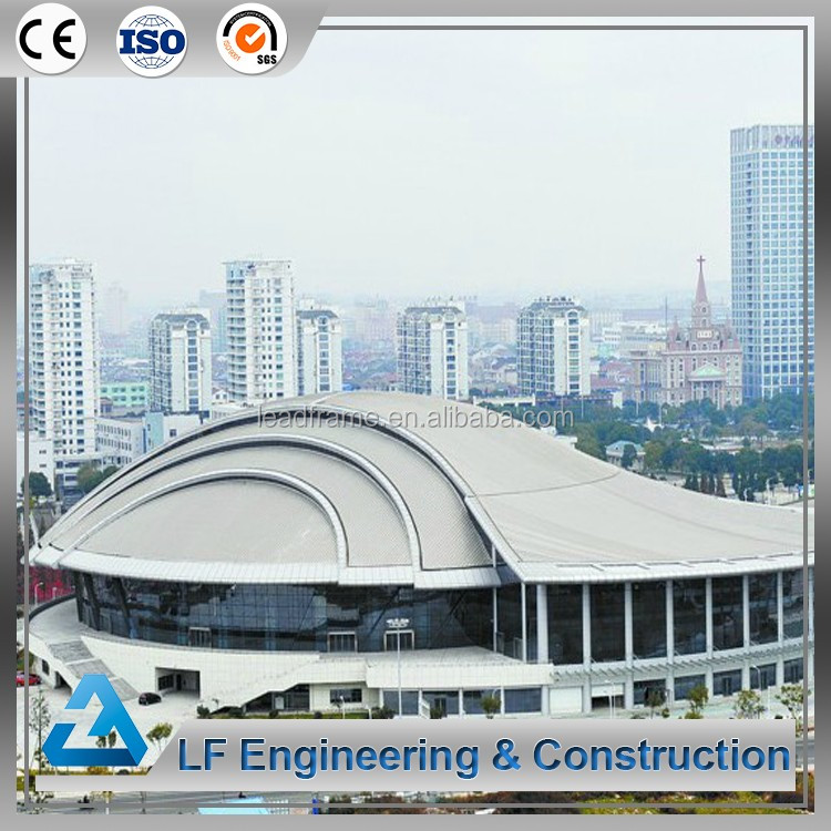 Cost Effective Light Steel Structure Space Frame Indoor Stadium Roofing