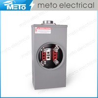 METO 200A/600V rectangle galvanized gray electrical power meter socket/meter case