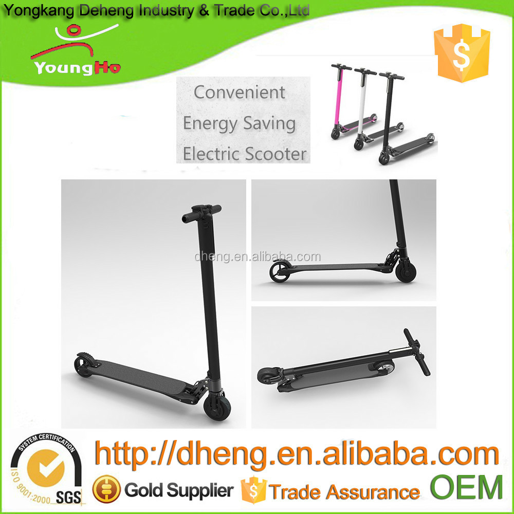 Pink, White, Black color of carbon fiber foldable electric scooter with 7.8Ah battery.