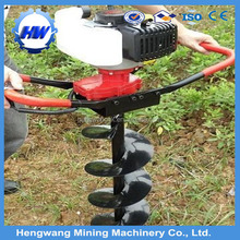 hw-52 one man gasoline earth auger/ gas powered soil digger