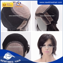 Chinese virgin hair dark color mono top women's wig full hand made wig for women