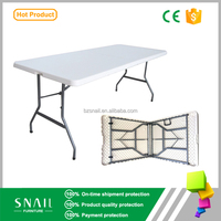 2016 hot sale 6ft portable white folding outdoor plastic table