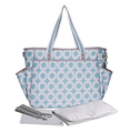 Blue 300D Diaper Bag Unisex with Changing Mat
