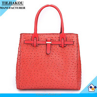 wholesale pu leather handbag for women ostrich textured