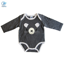 Newborn Baby Clothes Unisex Baby Body Suit With Cute Bear Pattern Long Sleeve Spring Baby Romper