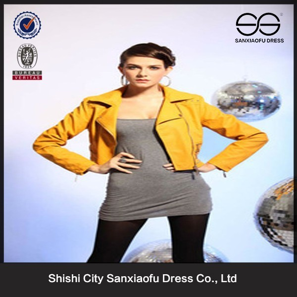 2015 Leather Products Bangladesh, Branded Clothes Wholesale, Lady Leather Jacket