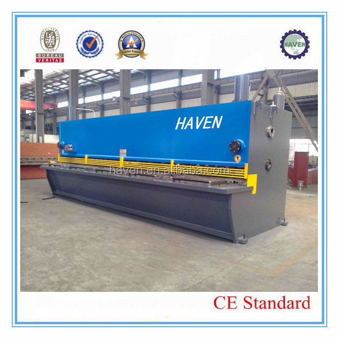 QC11Y-8x4000 exported to Australia hydraulic swing beam guillotine shearing machine