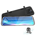 New H9 Hot Sale FHD 1080p 9.66 inch Car Dvr with Front and Rear Dual Dash Cam 170 Degree Angle Lens Easily Cover Multiple Lanes