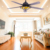 Modern decorative DC motor 56'' 220v ceiling fan light with remote control