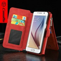 Customized mobile phone case flip leather case for samsung S7 plus