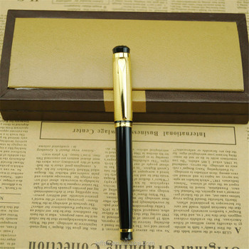 Factory supply Classic business style black office gift box kit luxury fountain pen