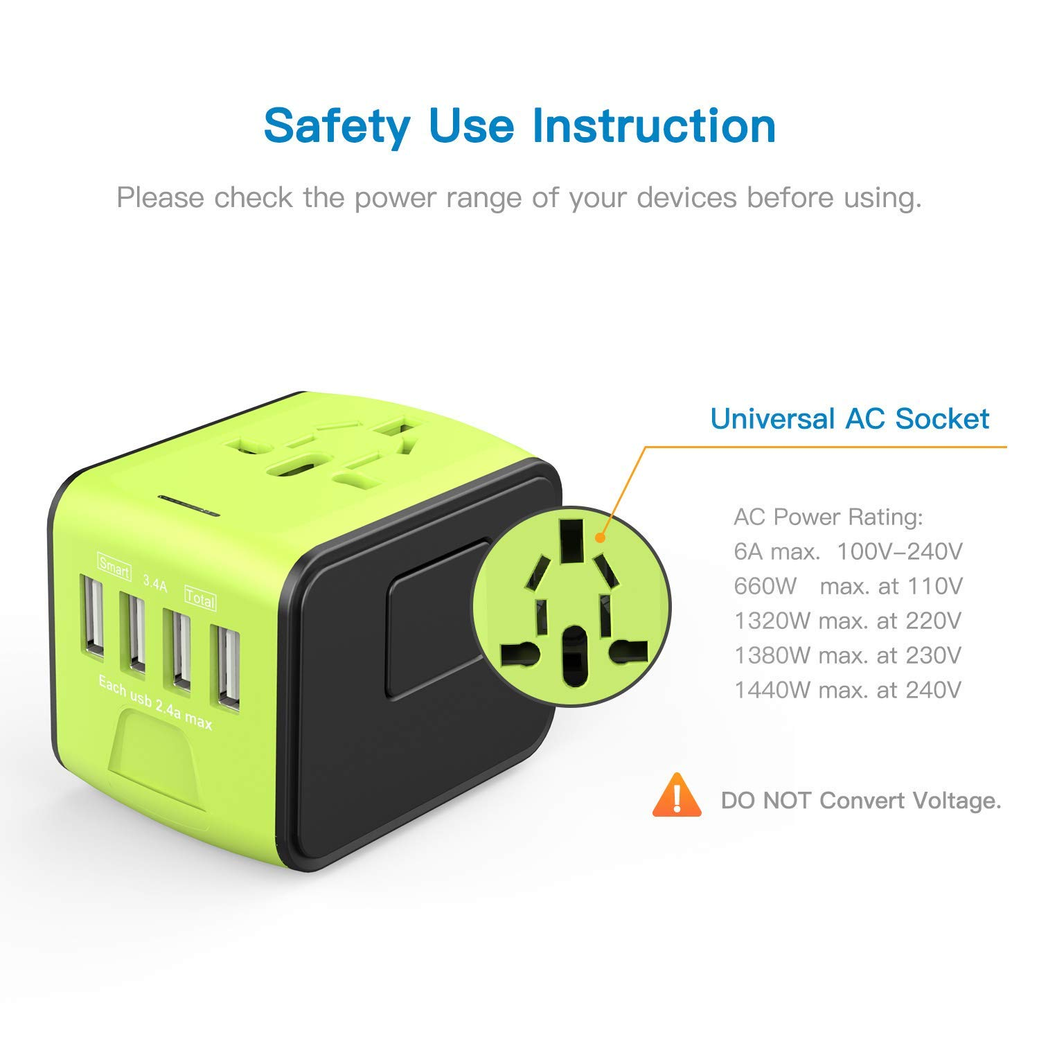 Travel Wall Plug Adapter International Travel Adapter With Usb Universal Travel Adapter
