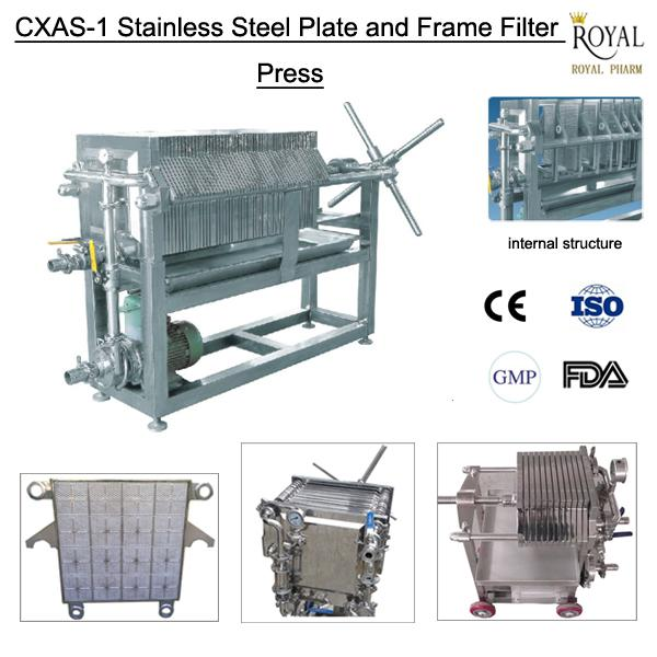 high configuration and low price CXAS-1 stainless steel plate and frame filter plate filter press supplier