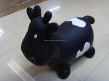 Wholesale colorful PVC inflatable Toy Animal and bouncing jumping animal with cow for kids