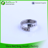 the most popular CZ stone latest silver ring cock ring picture