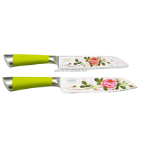 High quality stainless steel rose coating non-stick chef knife,kitchen knife