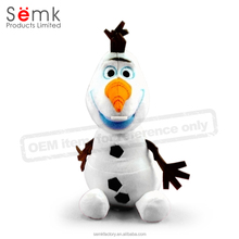 Novelty cute white small plastic christmas decorative snowman figurine