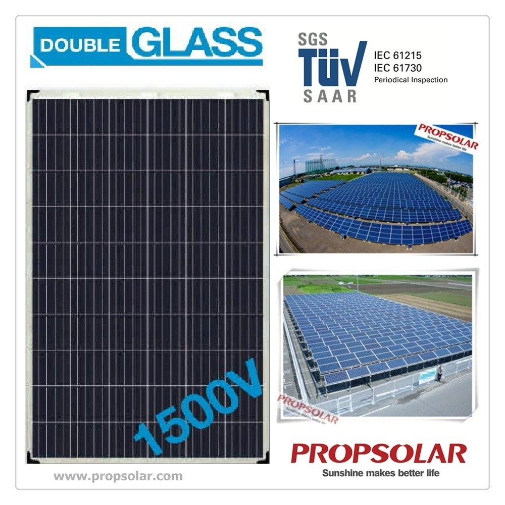 Double Glass transparent solar panels photovoltaic 250 w with 30 years product warranty